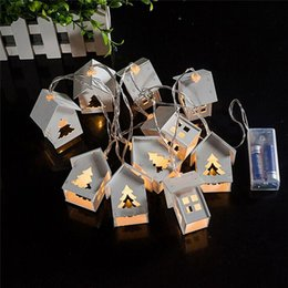 Holiday Decoration White Wooden House Heart Led 10 Fairy String Lights Outdoor Led Christmas Lights Battery Operated Mini Lights