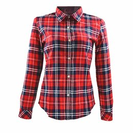 Discount Red Plaid Shirt Womens | 2017 Womens Plaid Shirt Red on ...