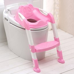 Wholesale Hot Sales Baby Foldable Potty Training Toilet Seat Kids Toilet Seat Protable Potty Chair Kid Anti skid Safety Ladder Potty Chair VT0254