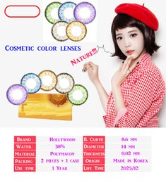 Wholesale 2 pieces case packing cosmetic color contact lenses pairs top quality contact lenses