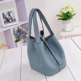 2017 deep shop 2016 New Women's handbags H famous brands top quality Genuine leather bag designer Luxury brand picotin lock ladies shopping bag