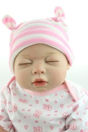 Wholesale New Adorable cm Full Vinyl Silicone Reborn Sleeping Baby Dolls High Quality Real NPK Brand Dolls As Early Education Toy Dolls