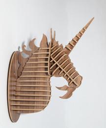 unicorn head ornamentanimal wood carvingdecorative itemsunicorn home decormdf diy crafthome wall hangingdecorative objects - Decorative Home Items