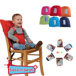 Wholesale Sack N Seat Baby Child Portable High Chair Seat Cover belt shoulder straps Baby Eat Chair Seat Belt For M Baby