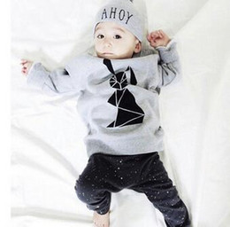 Wholesale autumn baby boy girl clothes Long sleeve Top pants sport suit baby clothing set newborn infant clothing bebe hight quality fr