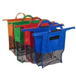 Wholesale 4 in1 Shopping Grocery Bag For Supermarket Trolleys Carrier Bag Shopping Bag Reusable Trolleys Folding Shopping Bag