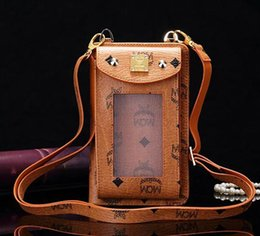 online shopping Hotselling luxury Gorgeous multi function universal window wallet case bag pouch with shoulder strap for iPhone Plus S7 Edge cell phone