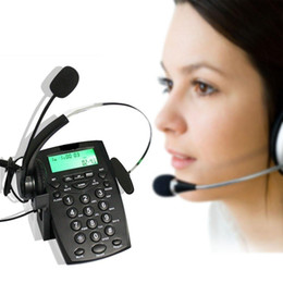 Call Center Téléphone mains libres Noise Call Center Annulation Binaural Corded Headset Téléphone avec Hearing Technology Protection