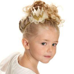 Wholesale 5colors Newborn Mini Felt Crown Glitter Elastic Headband For Girls Hair Accessories Handmade Luxe Baby Headbands