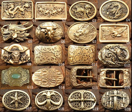 Retail Men Belt Buckle Copper Dragon Horse Eagle Cross Belt Buckle many styles for choices Free Shipping