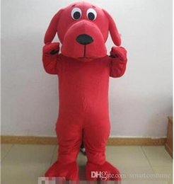 online shopping dog mascot costumes adult big red dog Clifford mascot costume for adult to wear