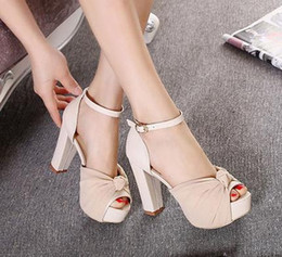 Peep Toe Chunky Heel Platform Online | Peep Toe Chunky Heel
