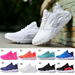 online shopping 2016 New Air Huarache Running Shoes For Women White Black High Quality Men s Sneakers Outdoors Athletics Sports Shoes Size Eur