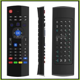 X8 MX3 teclado sem fio do mouse Air 2.4GHz controle remoto para MX3 MXQ S805 S905 M8S teclado Android TV BOX U1 Frete Grátis