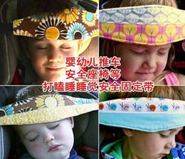 Infantil cabezal de seguridad Cinturón de niños de la siesta del sueño ajustable del sostenedor del cinturón de la fijación del coche de la venda de la correa del carro de bebé Cama de protección de la correa C898