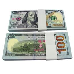 New 100pcs Style / lot USD 100 Dollars 1: 1 Chine Personnel de la Banque Formation Billets cadeau argent papier