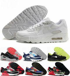 2016 Shoes Run Air Max 2016 Hot Sale Max 90 Running Shoes Men Women Max90 High Quality New Sneakers Cheap Men's Women Sports Shoe Size 36-45 Air Free Shipping