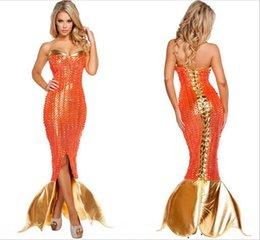 Wholesale Venta al por mayor de la oferta especial adultos disfraces de sirena fantasía de Halloween para los partidos del vestido de lujo atractivo de las mujeres del carnaval