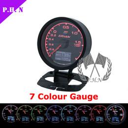 62mm Greddy Calibrador automático de presión / presión de aceite Temperatura del aceite / vacío Temperatura del agua / volt Tacómetro Temp del escape Ratio de combustible de aire 7 colores han almacenado