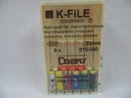 One Pack Dental Dentsply K-FILE 25mm # 015-40 Uso de la mano del canal radicular Archivos Endodoncia DBM