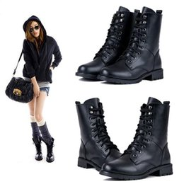 Discount Short Black Combat Boots Women | 2017 Short Black Combat ...