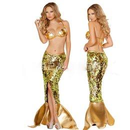 Wholesale Venta al por mayor Mermaid Cosplay Trajes Sexy mujeres traje de las mujeres sexy costumesTemptation uniforme cosplay uniforme de Halloween ropa