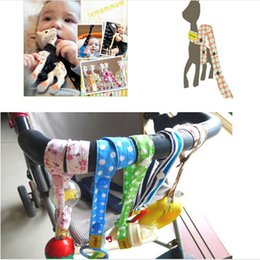 Wholesale Lemommom stroller toys Bind belt Baby toys Strollers Accessories Sophie pure cotton Lemommom Toy Saver Sippy Cup Baby Bottle Strap LC331