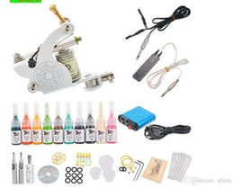 Wholesale Complete Tattoo Kits Guns Machines Colors ml pieces RL Inks Sets Disposable Needles Power Supply Tips Grips with DVD