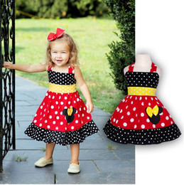 Wholesale Toddler Girl Sleeveless Minnie Dress Summer Baby Girls Cartoon Mouse Chiffon Dresses vetement enfant Children s Clothing
