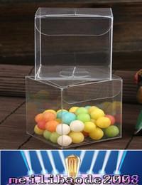 Venta caliente de 10 * 10 * 10 cm PVC claro ambientalmente Caja de empaquetado de plástico Contenedores de frutas dulces de la torta de cajas de regalo en MYY