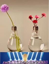 Новые прибытия электрическая лампочка прозрачная стеклянная ваза современной моды гидропоника ваза для цветов украшение ваза бесплатная доставка Myy