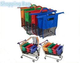 Wholesale 2016 Large Size in1 Shopping Grocery Bag For Supermarket Trolleys Carrier Bag Shopping Bag Reusable Trolleys Folding Shopping Bag A0135