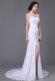 Wholesale The most fashionable bridal wedding dresses elegant strapless gown with chic simple the skirt of tall waist wedding dress