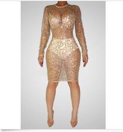 Gold Sequin Mesh Dress Online | Gold Sequin Mermaid Dress Mesh for ...