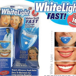 Wholesale Dental Personal Oral Hygiene Care White Light Whitelight Teeth Whitener Easy To White Your Teeth Whitening bental bleaching lamp DHL FREE