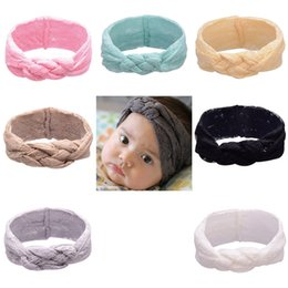 Wholesale 2016 Baby Lace Headbands Girls Hair Braided With Childrens Safely Cross Knot Hair Accessories Head Wrap Lovely Infant Elastic Headband