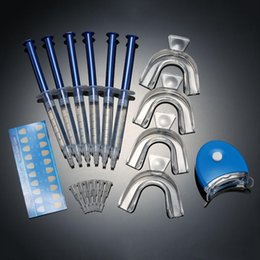 Wholesale 12pcs Tooth Whitener Dental Bleaching Dental Teeth Whitening Trays Care Whitening Gel Peroxide Dental Equipment Home Kit DHL
