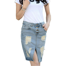 Cheap Ladies Denim Skirts Plus Size | Free Shipping Ladies Denim