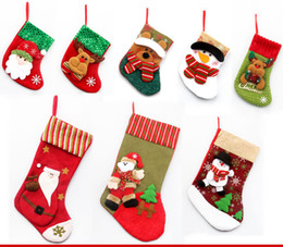 1pcs Sell Free Shipping Christmas Tree Decorations Items And 4 Pattern Stockings Pendant In House Decoration