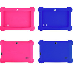"Anti Dust Kids Child Soft Silicone Rubber Gel Case Cover For 7"" 7 Inch Q88 Q8 A33 A23 Android Tablet pc MID Free shipping 10 colorful from kids tablet pc android suppliers"