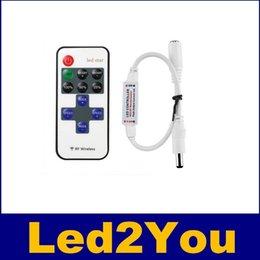 Led Mini Télécommande sans fil pour couleur unique bande LED Lights RF Variateur pour DC 5 ~ 24V 12A LED Light Strips livraison gratuite