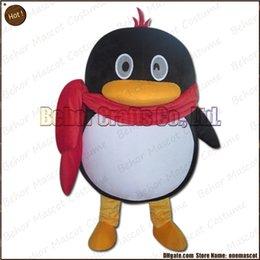 Wholesale Costume de mascotte de pingouin la livraison libre adulte bon marché de bande dessinée de mascotte de pingouin de peluche de haute qualité accepte l ordre d OEM