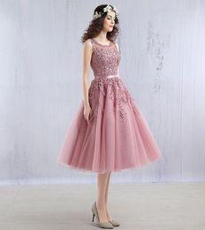 Mid Length Pink Cocktail Dresses Online   Mid Length Pink Cocktail ...