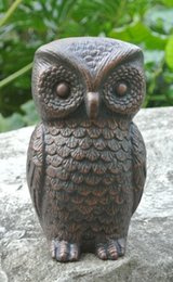 sale wrought iron owl vintage cast iron owl figurine paper weight cottage yard garden table decorations door stop free shipping