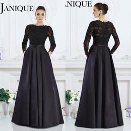 2016 Janique Мать от невесты платья плюс размер длинными рукавами сатинировки шнурка женщин Свадеб вечерние платья аппликация бисер Sexy Zipper Назад