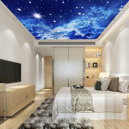 Large Natural Environment Night Sky Ceiling Decoration Suitable For Non Woven Wallpaper Living Room Bedroom Hotel Lobby Room Shipping Speed