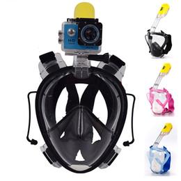 en soldes! 2016 Nouvelle arrivée Underwater Scuba mergulho Anti-brouillard Full Face masque de plongée Snorkeling Set avec Bouchon d'Oreille et Snorkel pour go pro