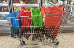 Wholesale 35SET Grocery Bag for Supermarket Trolleys Carrier Non Woven Bag Folding Foldable Shopping Trolley Bag