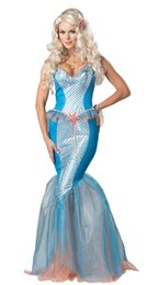 Wholesale Traje atractivo caliente caliente F1442 de la sirena de la sirena del mar de las mujeres de los trajes de la alta calidad del envío Al por mayor
