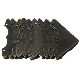 12pcs Decorative Antique Brass Jewelry Wine Gift Box Wooden Corner Protector Guard Furniture Hardware